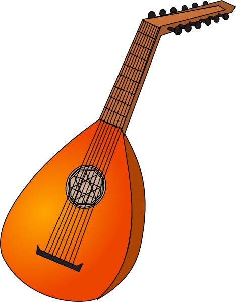 Lute clipart #18, Download drawings