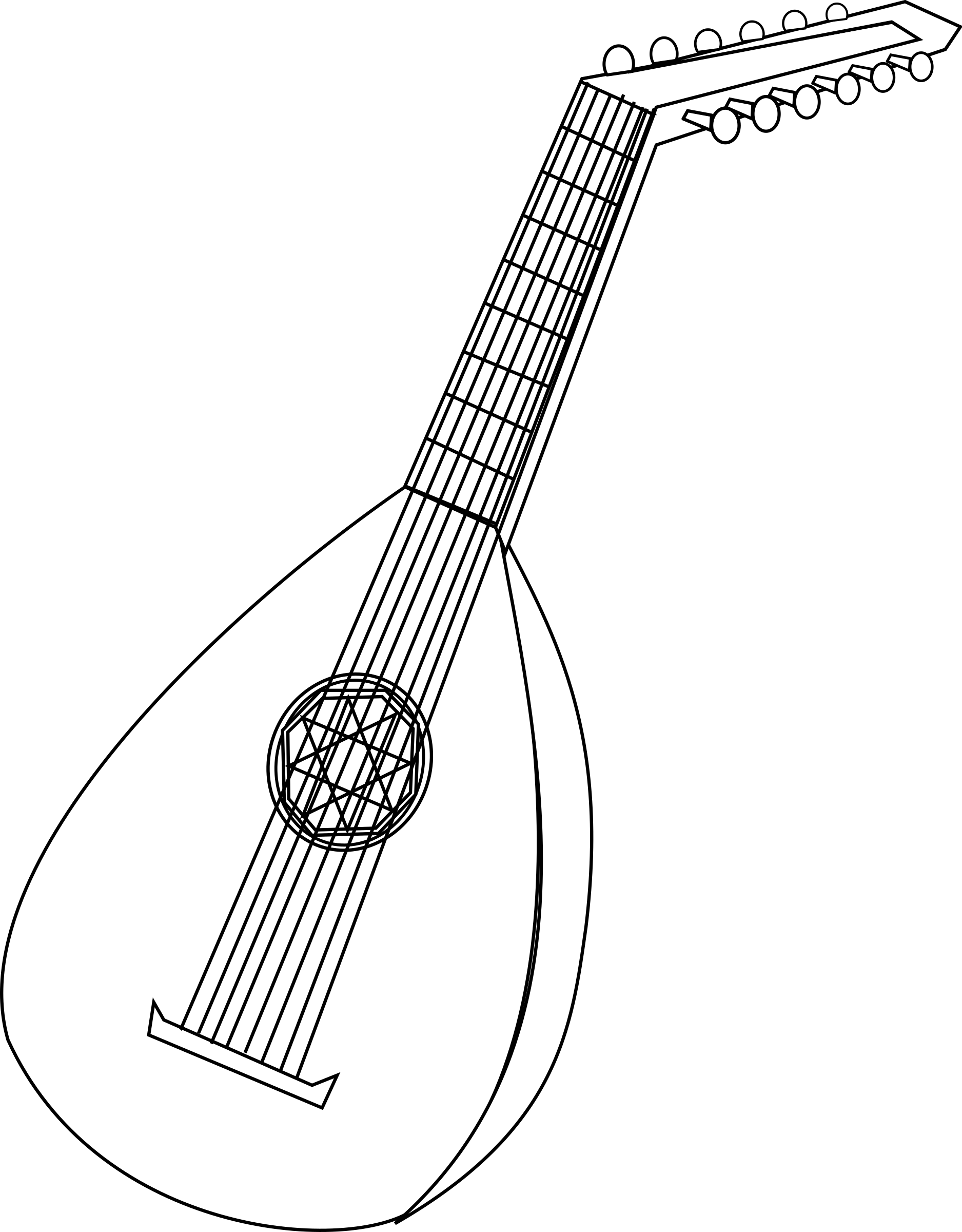 Lute clipart #13, Download drawings