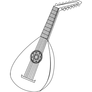 Lute clipart #17, Download drawings