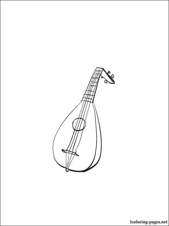 Lute coloring #15, Download drawings