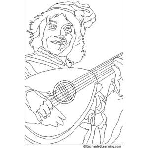 Lute coloring #18, Download drawings