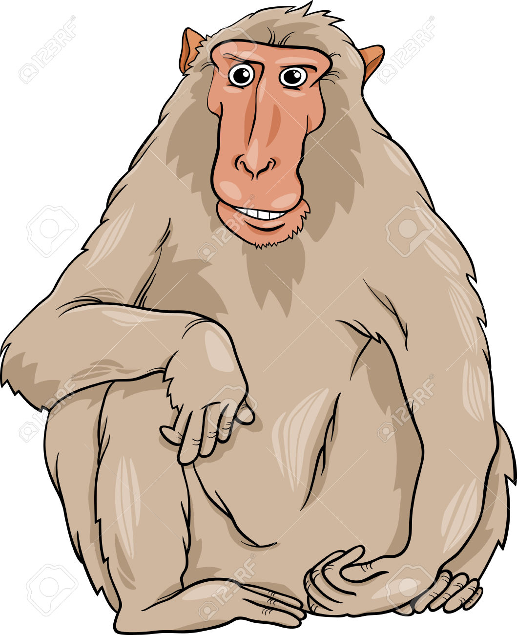 Macaque clipart #19, Download drawings
