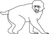 Macaque clipart #9, Download drawings