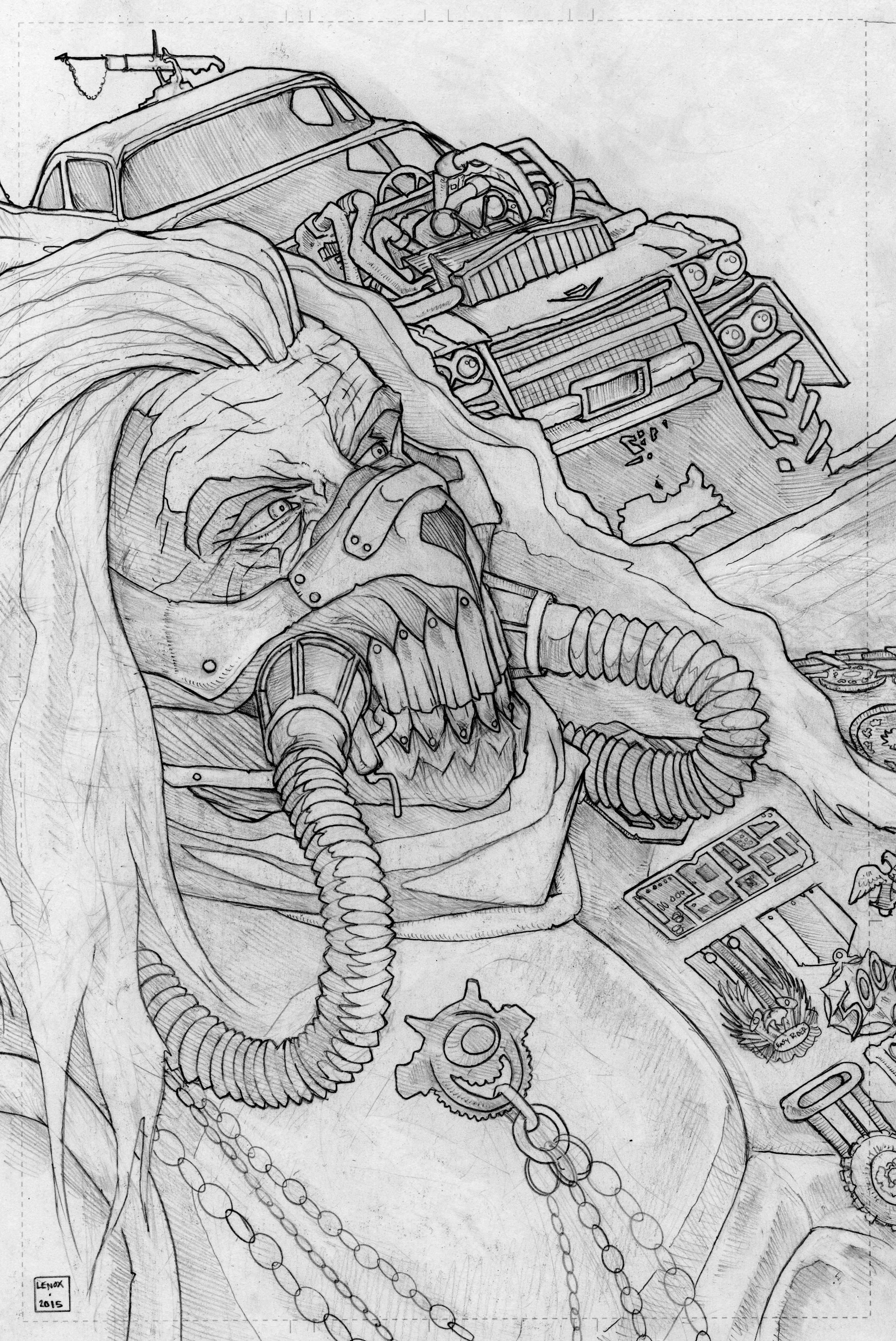 Mad Max coloring #19, Download drawings