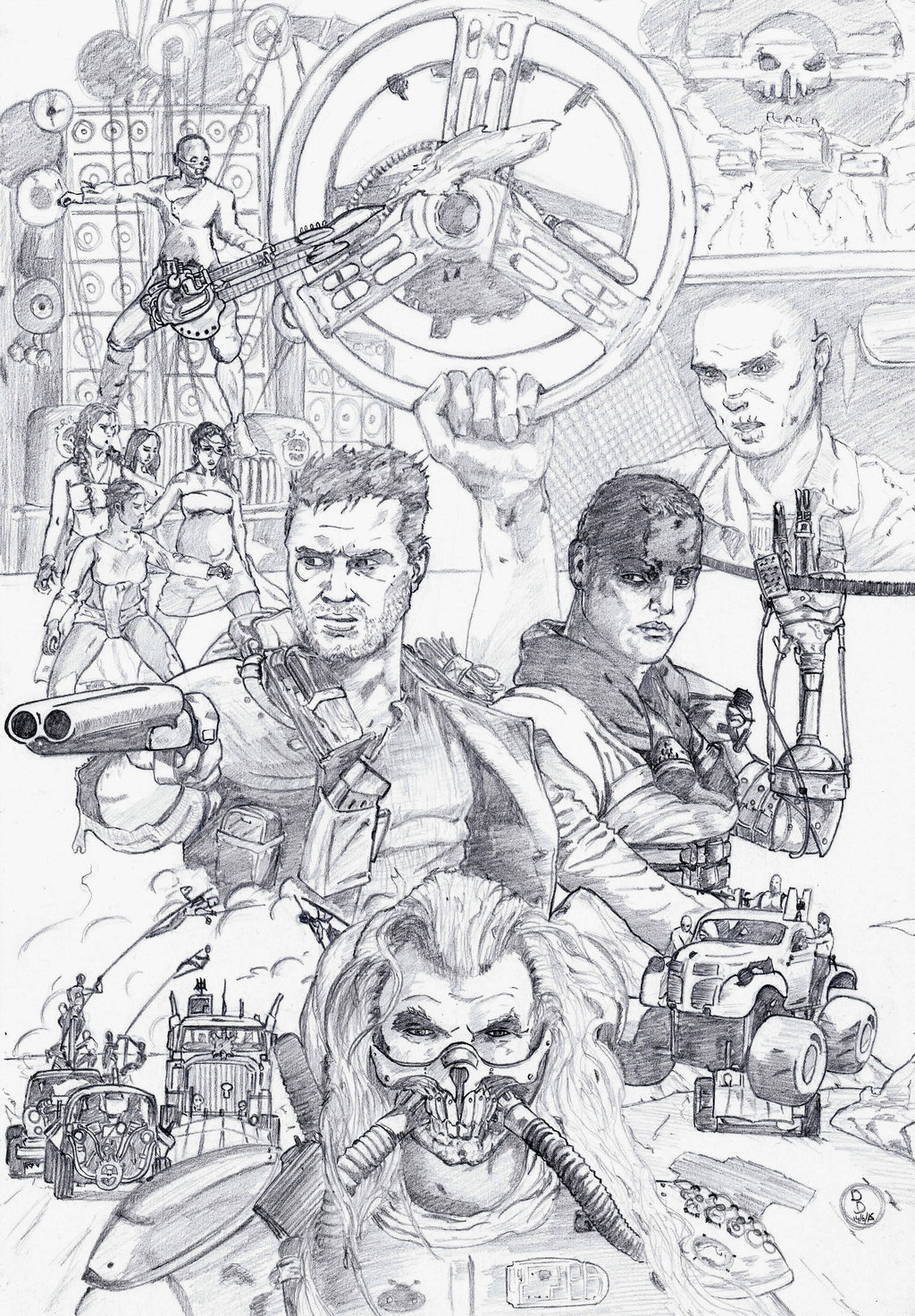 Mad Max coloring #3, Download drawings
