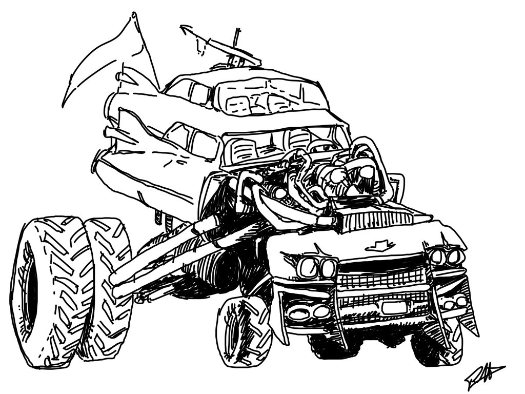 Mad Max coloring #15, Download drawings