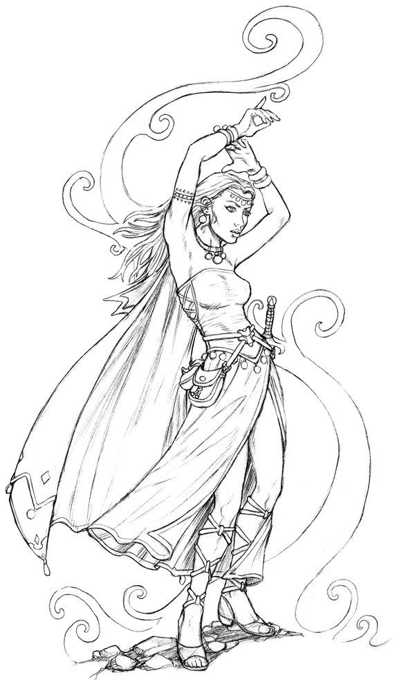 Sorceress coloring #15, Download drawings