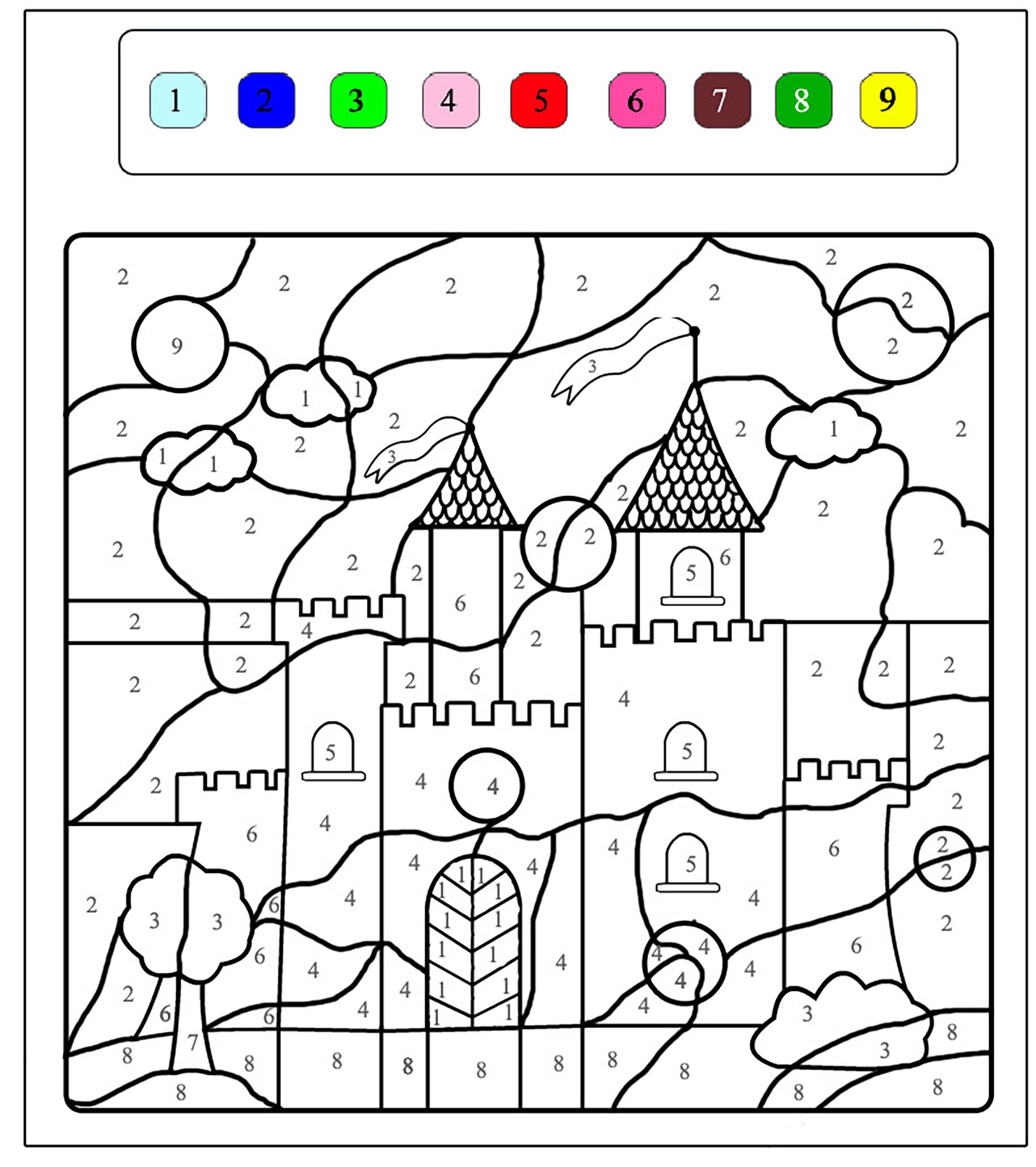 Magical coloring #11, Download drawings