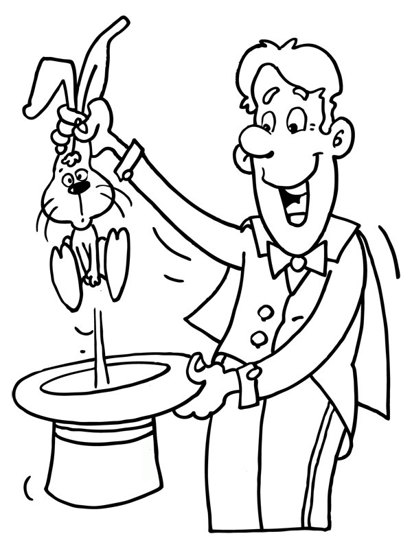 Magician coloring #4, Download drawings