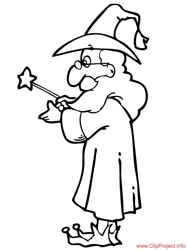 Magician coloring #3, Download drawings