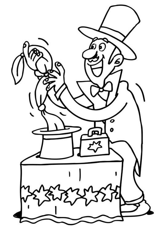 Magician coloring #6, Download drawings