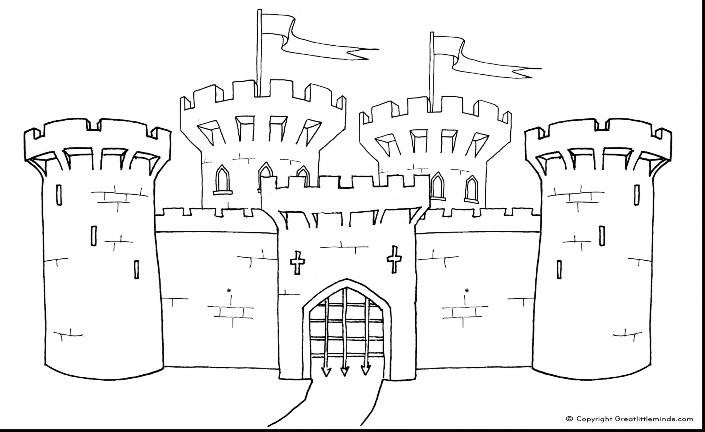 Magnificent Castle coloring #20, Download drawings