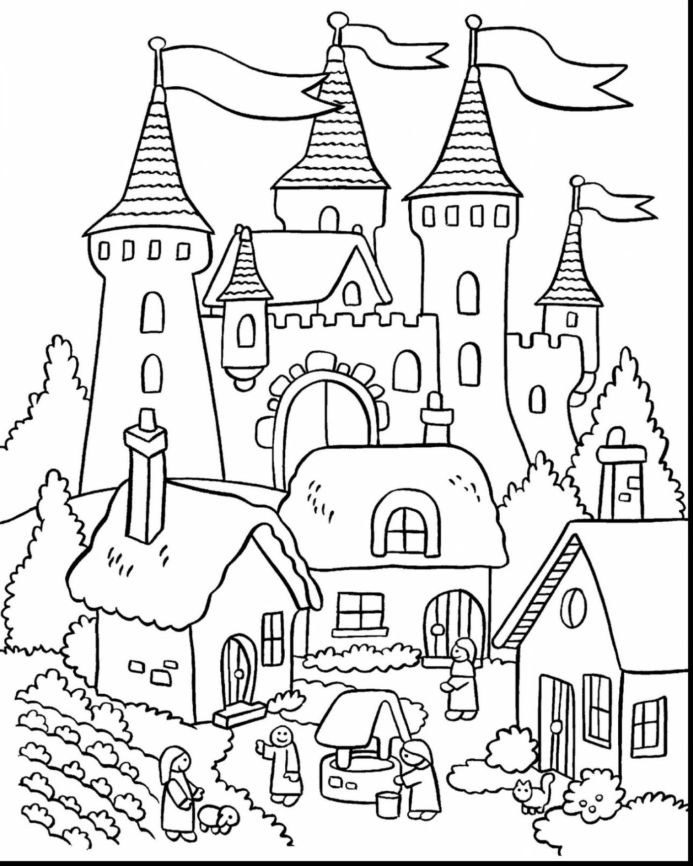 Magnificent Castle coloring #18, Download drawings
