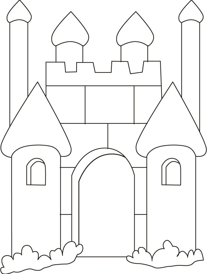 Magnificent Castle coloring #13, Download drawings