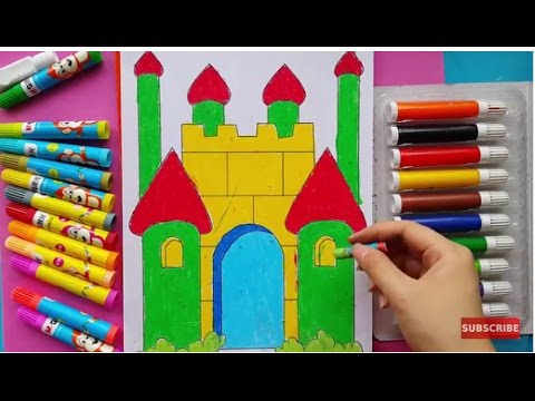 Magnificent Castle coloring #14, Download drawings