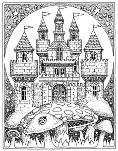 Magnificent Castle coloring #1, Download drawings
