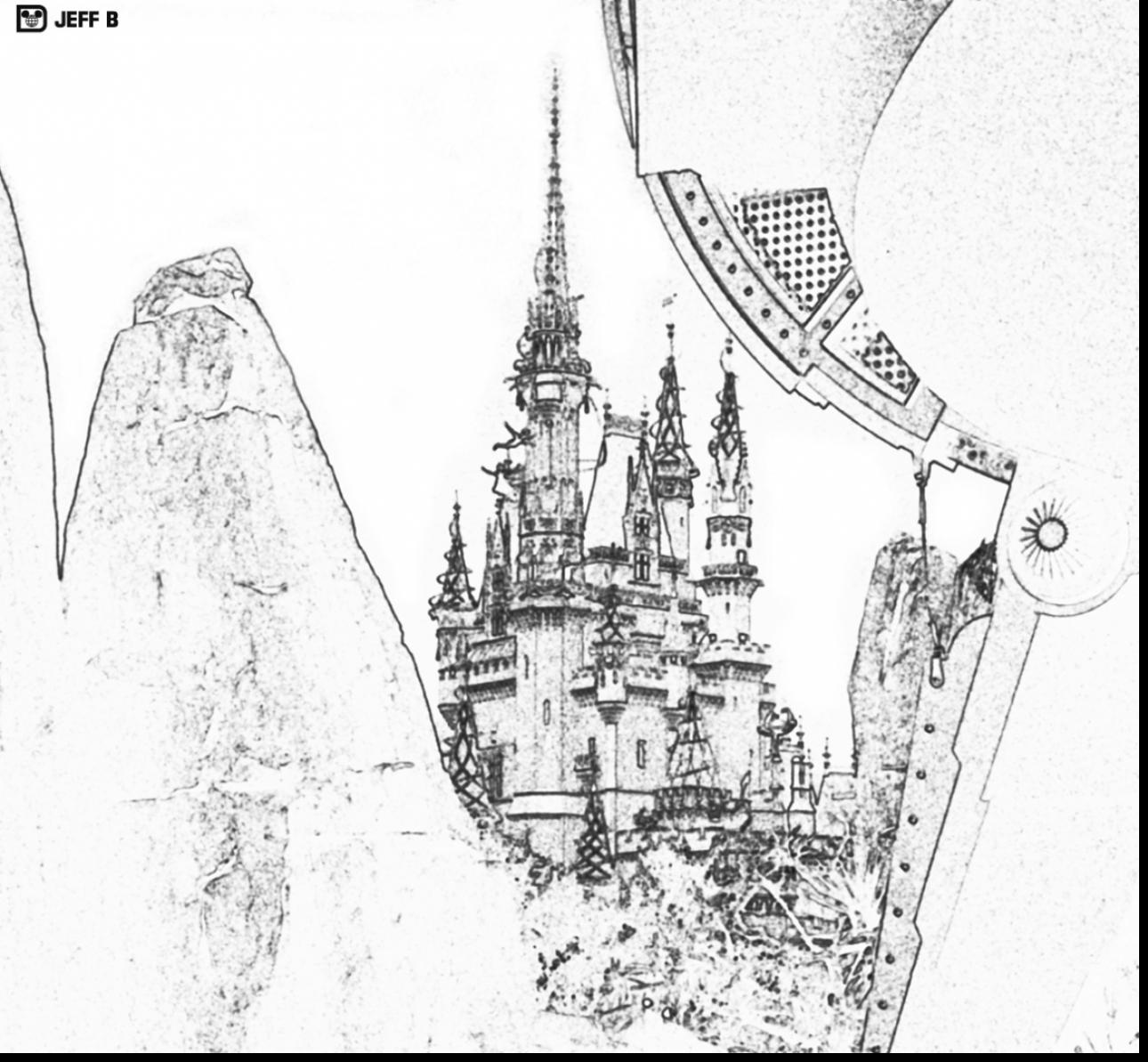 Magnificent Castle coloring #4, Download drawings