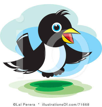 Magpie clipart #2, Download drawings