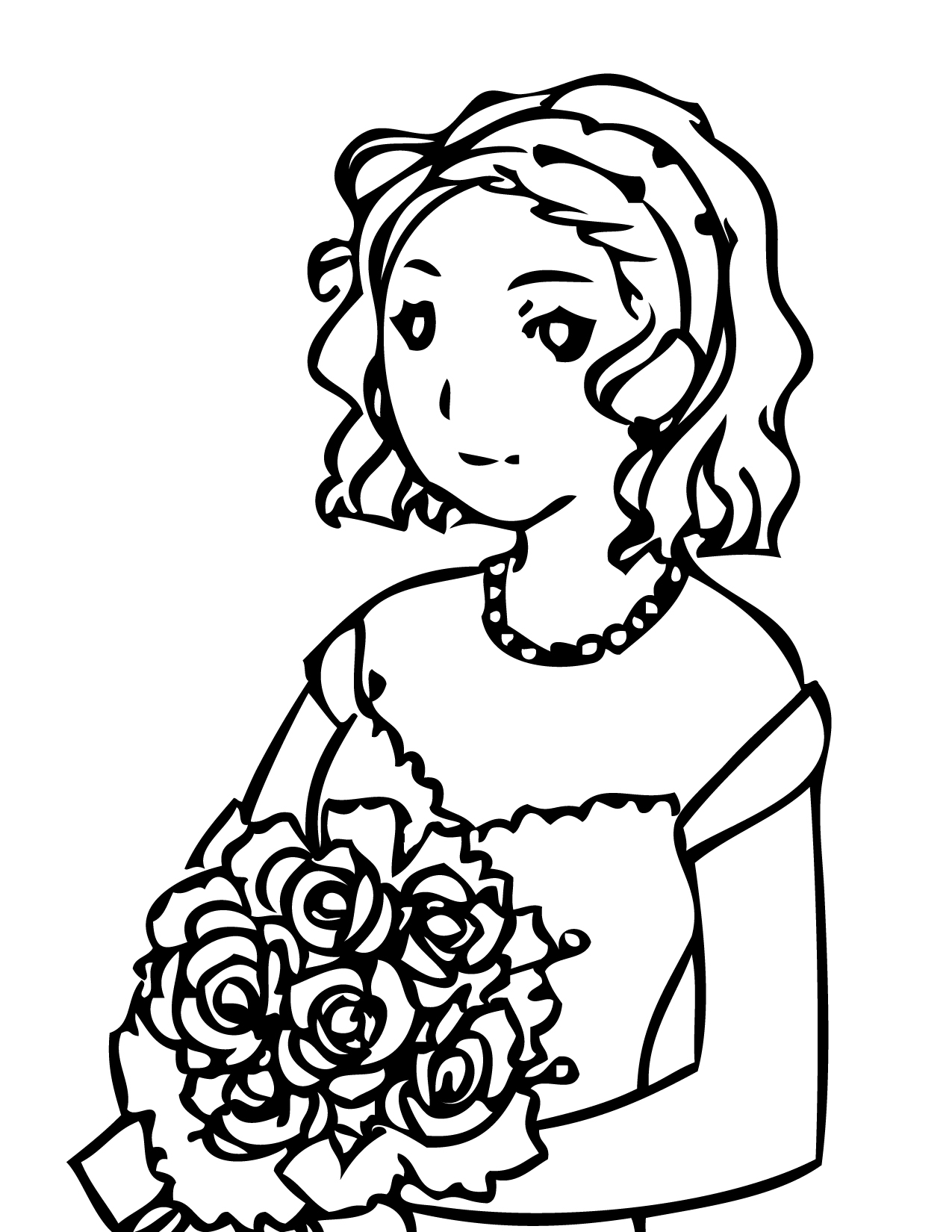 Maid coloring #1, Download drawings