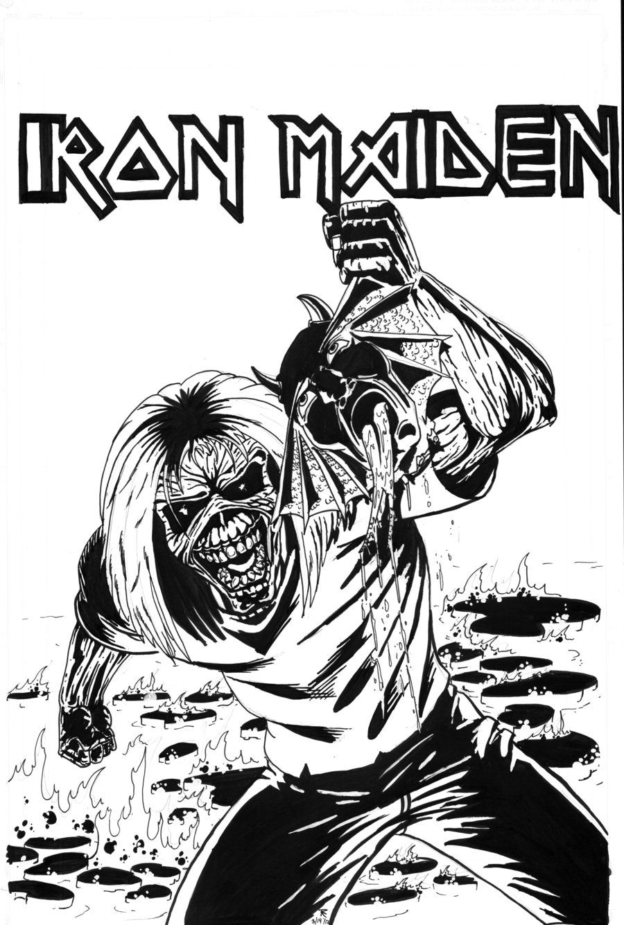 Maiden coloring #4, Download drawings