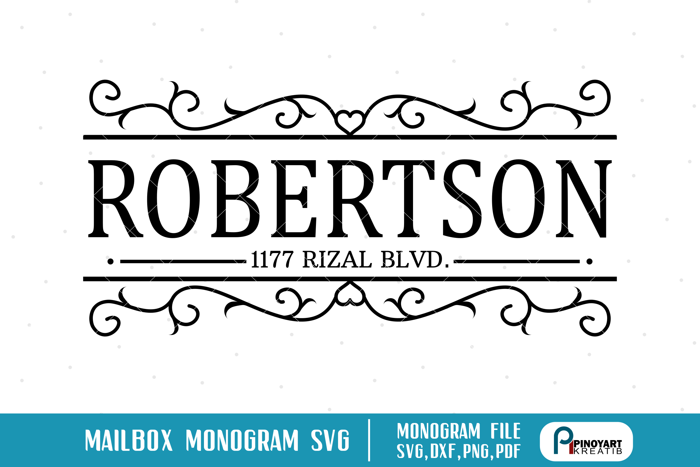 mailbox decal svg #994, Download drawings