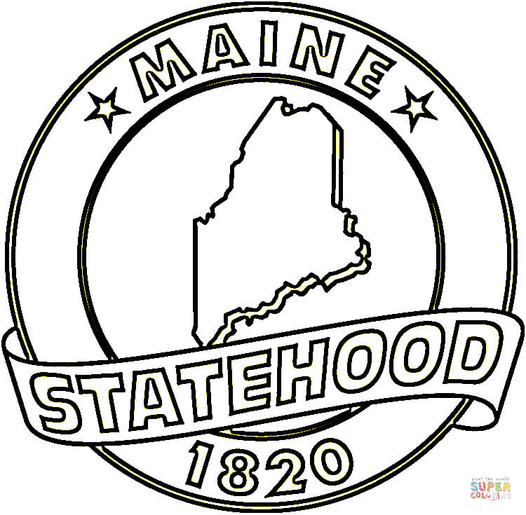 Maine coloring #18, Download drawings