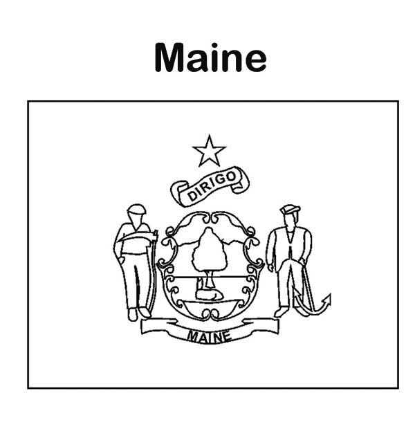 Maine coloring #15, Download drawings