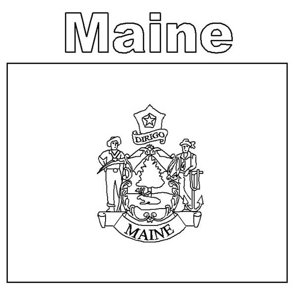 Maine coloring #16, Download drawings