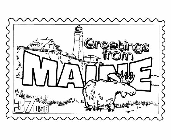 Maine coloring #1, Download drawings