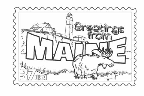 Maine coloring #5, Download drawings