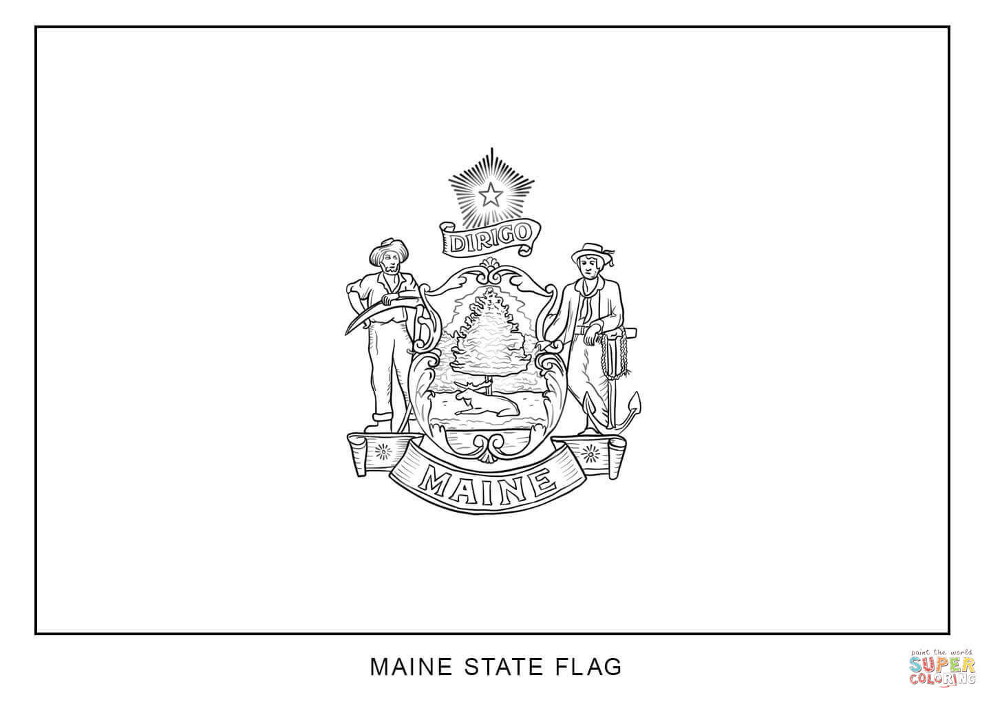 Maine coloring #11, Download drawings