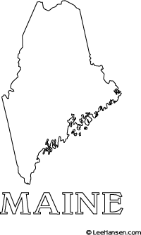 Maine coloring #3, Download drawings