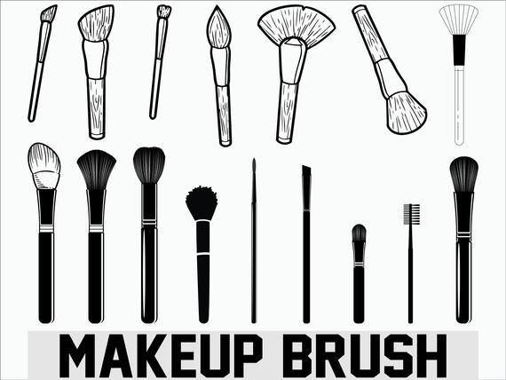 makeup brush svg #1074, Download drawings
