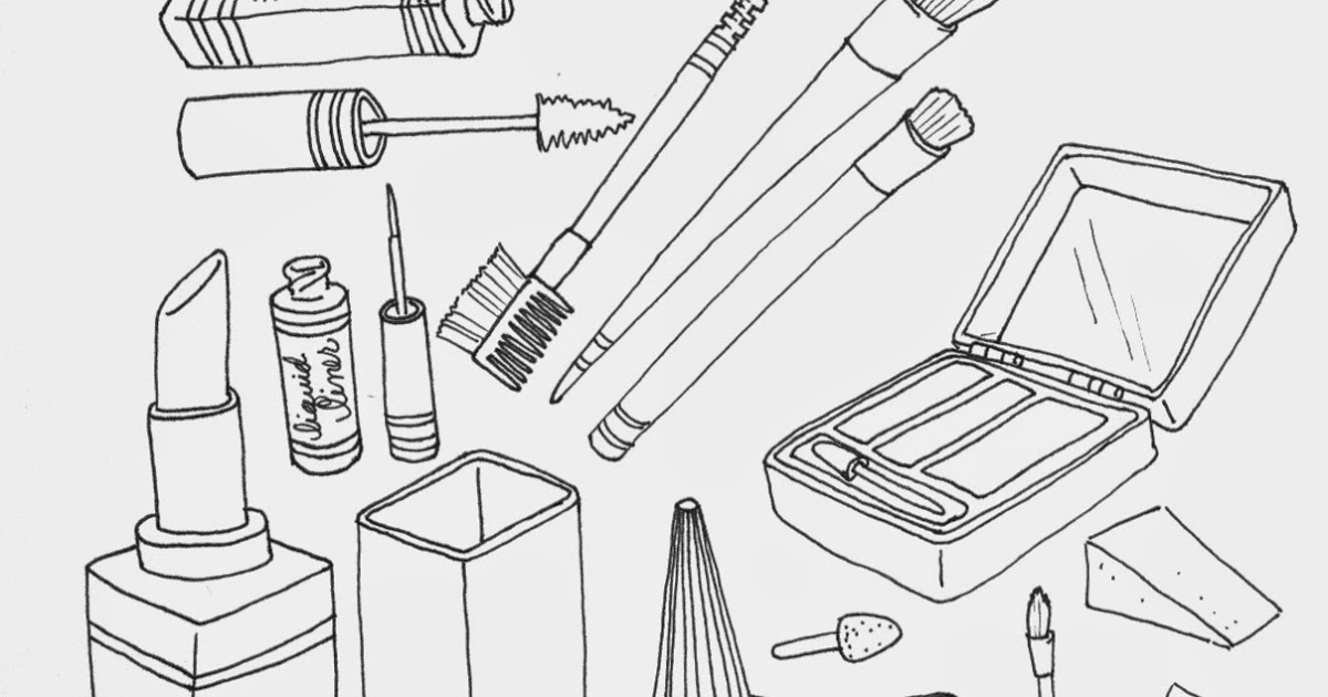 Makeup coloring #19, Download drawings