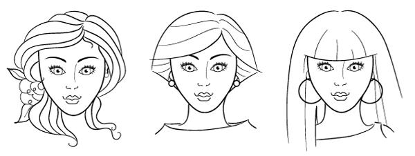 Makeup coloring #1, Download drawings