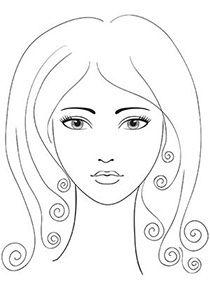 Makeup coloring #8, Download drawings