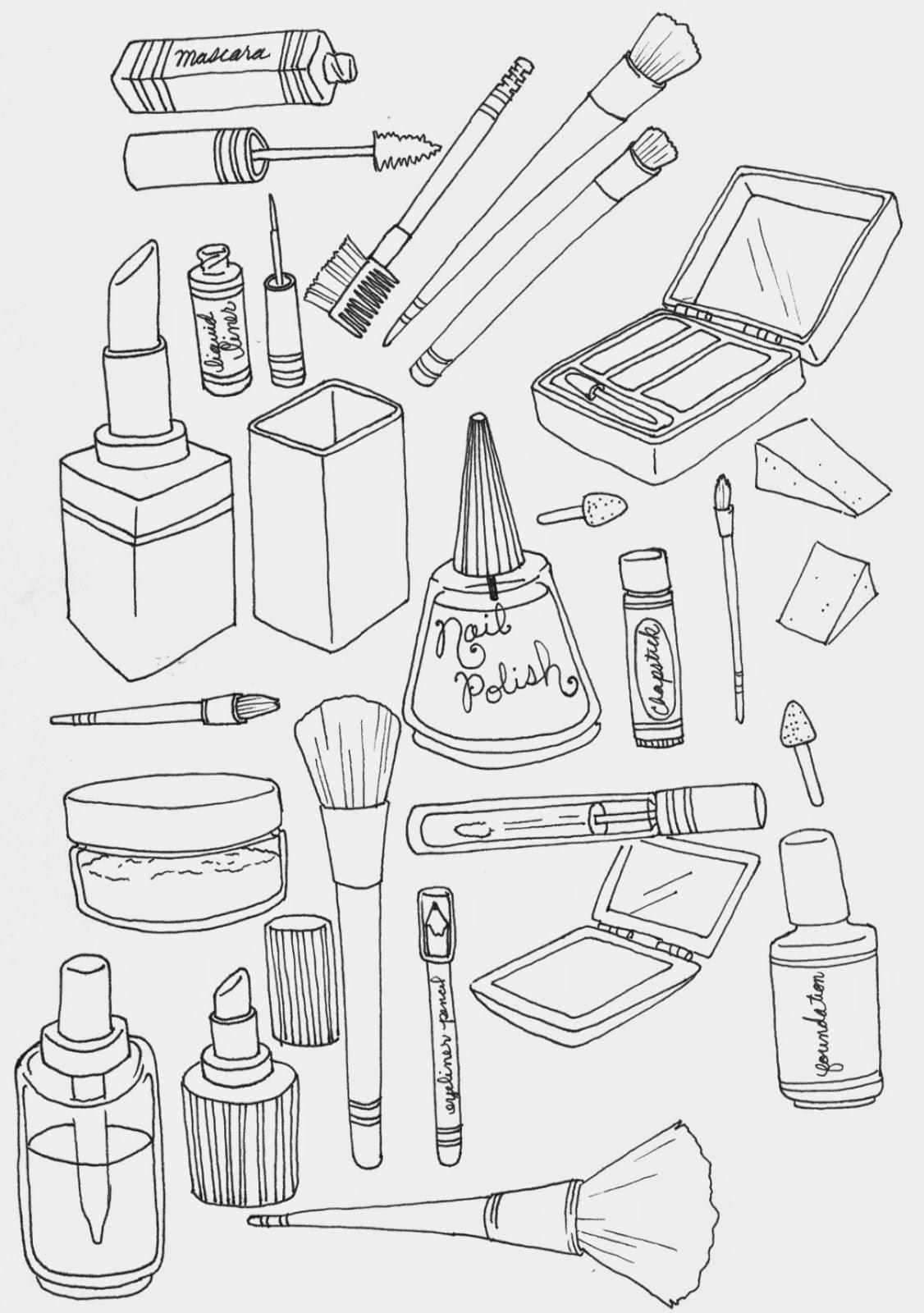 Makeup coloring #15, Download drawings