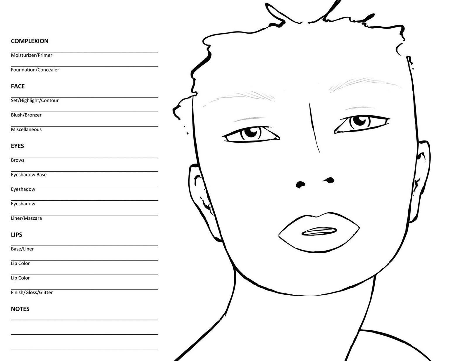 Makeup coloring #3, Download drawings