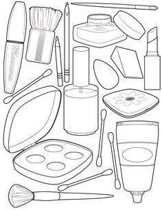 Makeup coloring #20, Download drawings