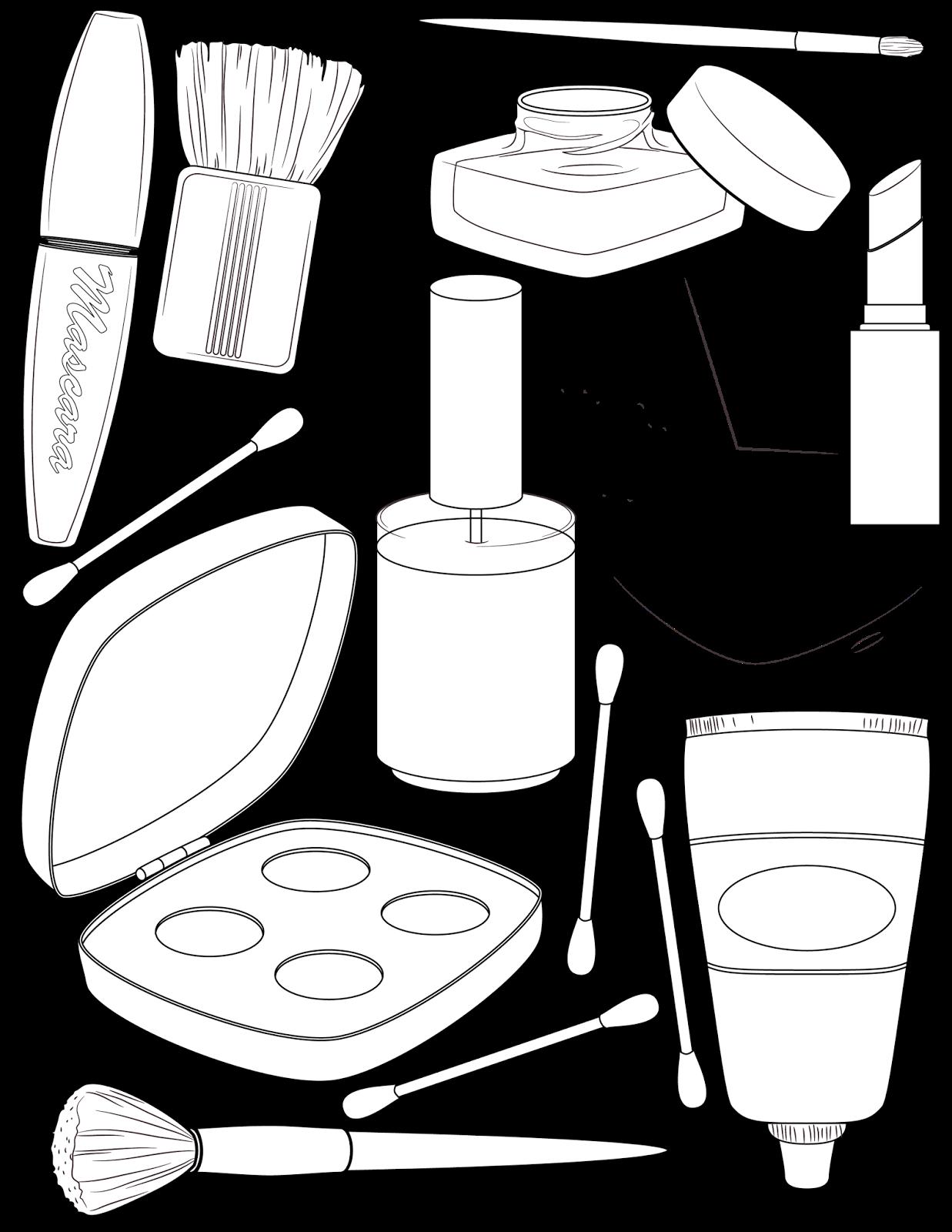 Makeup coloring #6, Download drawings