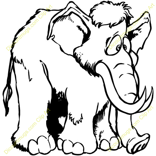 Mammoth clipart #3, Download drawings