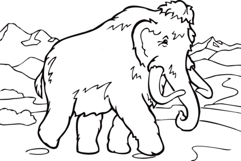 Woolly Mammoth coloring #14, Download drawings