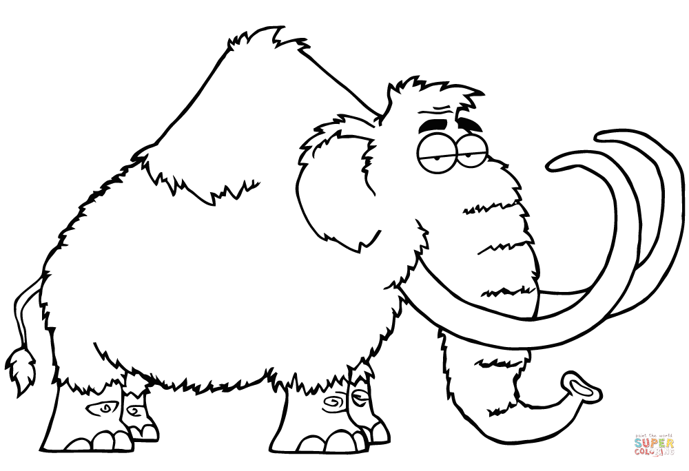Woolly Mammoth coloring #9, Download drawings
