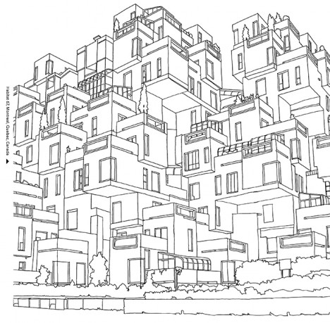 Urban coloring #19, Download drawings
