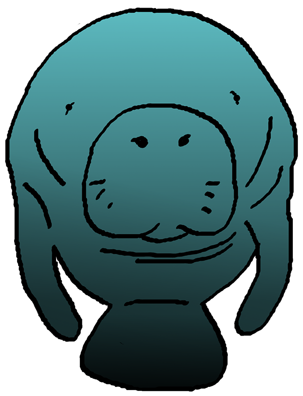 Manatee clipart #12, Download drawings