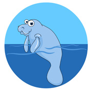 Manatee clipart #3, Download drawings