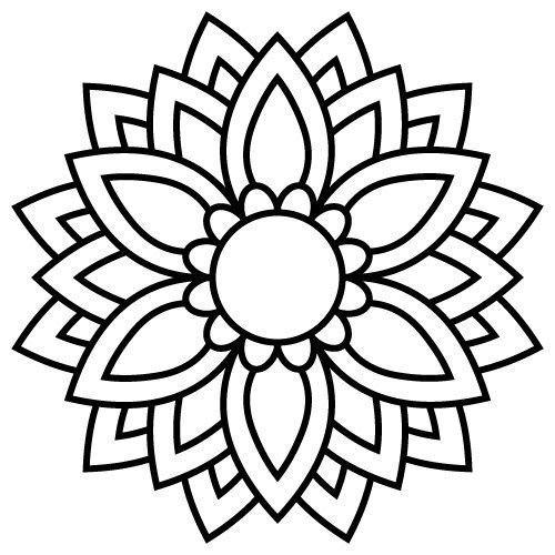 mandala flower svg #878, Download drawings