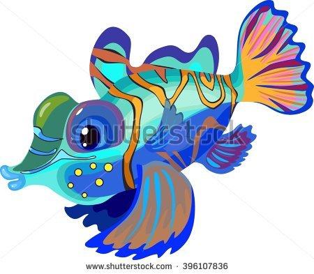 Mandarinfish clipart #17, Download drawings
