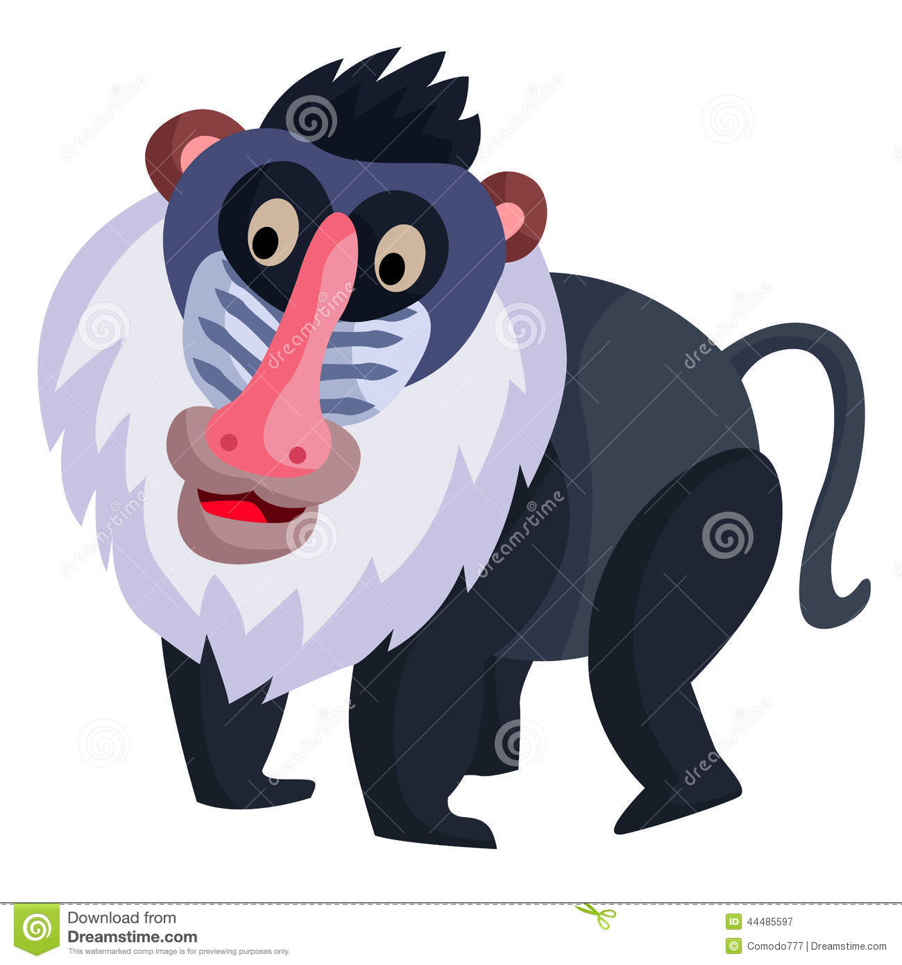 Mandrill clipart #16, Download drawings