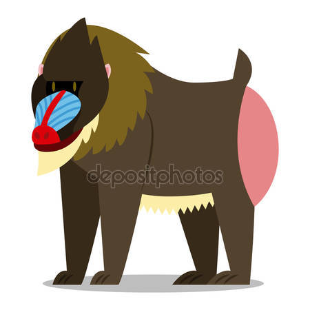 Mandrill clipart #2, Download drawings